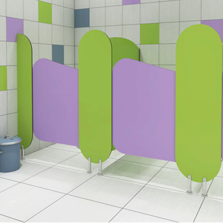 Kindergarten Toilet Partition Colored Design