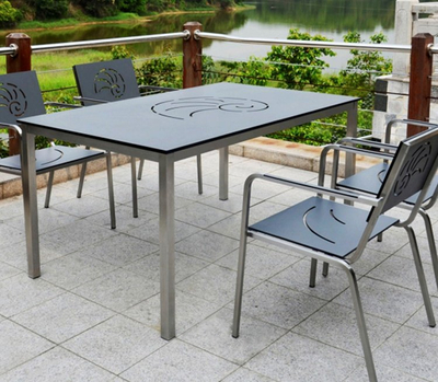 Brikley Compact Laminate Outdoor Dining Table Tops